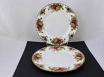 Set Of 2 Royal Albert China Old Country Roses Salad Plates - Made In England