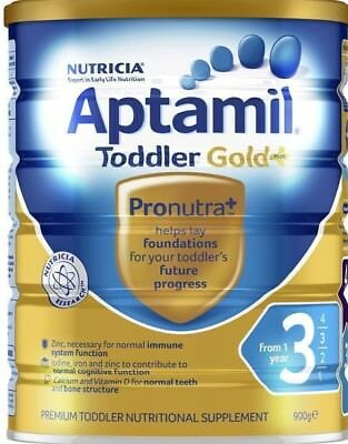 Formulated for toddlers Nutritional Supplement From 1 year Aptamil Gold+3   900g