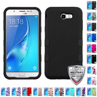 Samsung Galaxy J7 Prime Perx Hybrid TUFF IMPACT Phone Case Hard Rugged Cover