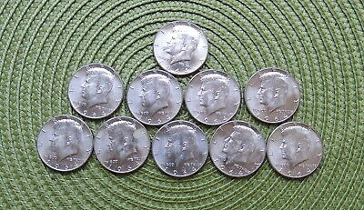 Lot10 – 1964 P Mint Kennedy Silver Half Dollars 90% Silver, Circulated, EF/AU