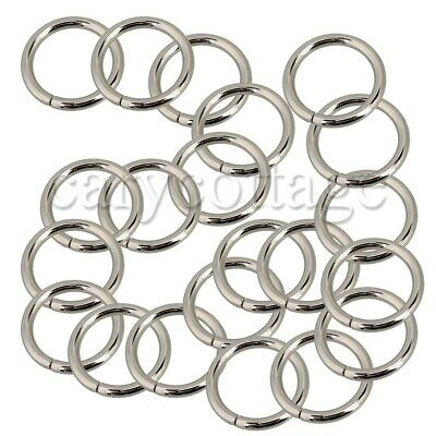 20 x Metal Round Rings Webbing Buckles Adjusters for 25/38mm webbing