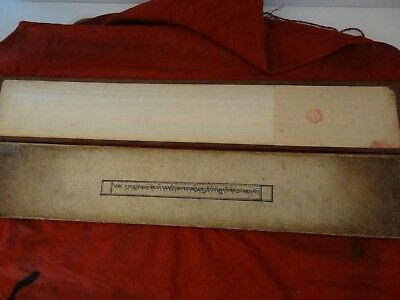 Antique Mongolian Tibetan Buddhist Woodblock Complete  Manuscript