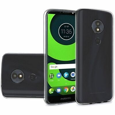 For Motorola Moto G6 Play XT1922 - Crystal Transparent TPU Case Cover - Smoke