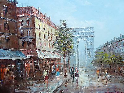 Oil On Canvas Parisian View  Artist Henri Roger  Free Shipping To England