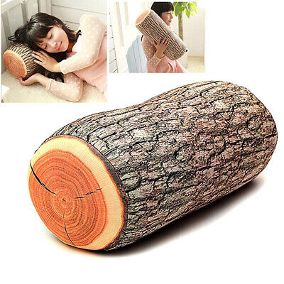 Wood Log Shape Soft Car Seat Head Rest Body Neck Support Throw Pillows Cushion n