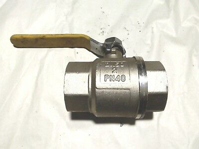 "2"" SCREWED BRASS BALL VALVE with handle  172ZSH PN40"