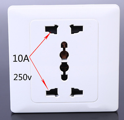 10A 250V UK EU US AU Wall Socket Charger AC Power Receptacle Outlet Plate Panel