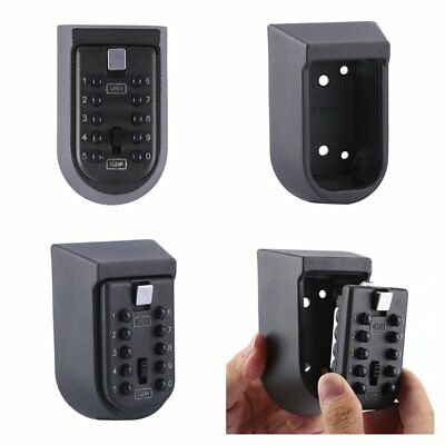 Home Outdoor Combination Key Safe Box Wall Mounted Weather Resistant Security