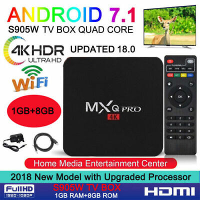 2019 4K Ultra MXQ Pro Quad Core Android TV Box HDMI HD Sports 3D Media Player 4K