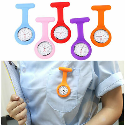 Silicone Nurse Watch Brooch Tunic Fob Watch With Free Battery Doctor Medical #