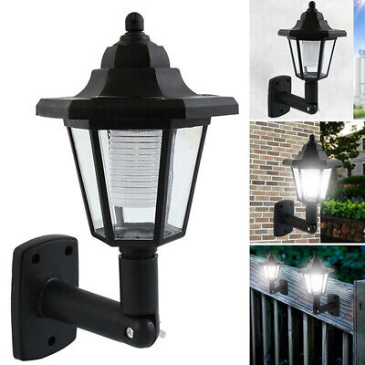 Solar Power LED Path Way Wall Landscape Mount Garden Fence Lamp Outdoor Light NT