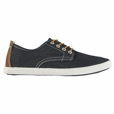 Lee Cooper Billy Canvas Shoes Mens Gents Low Laces Fastened Comfortable Fit