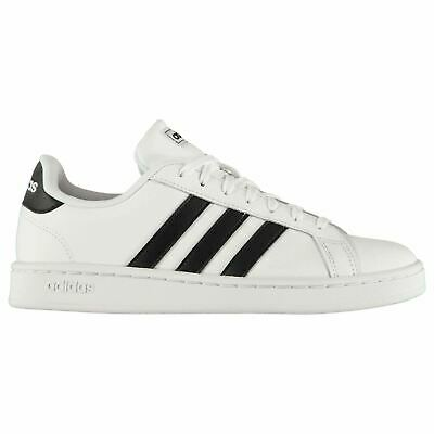 ADIDAS GRAND COURT Sneakers Mens Gents Low Laces Fastened Padded Ankle Collar