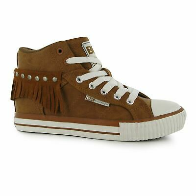 c10355412e56 British Knights Roco PU Hi Top Ladies High Shoes Laces Fastened Padded  Tongue