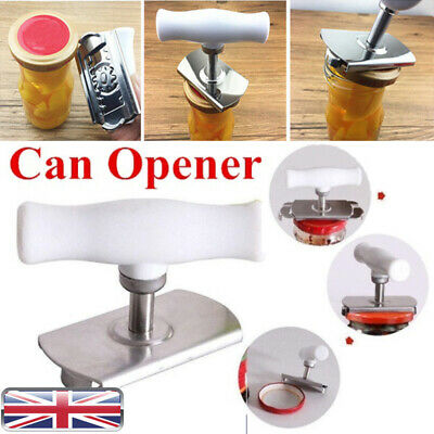 Adjustable Manual Jar Arthritis Can Opener Professional Kitchen Stainless Steel