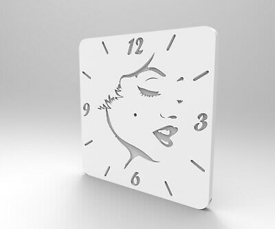 3D STL Model for CNC Router Engraver or 3D Printer Relief Artcam- Wall Clock