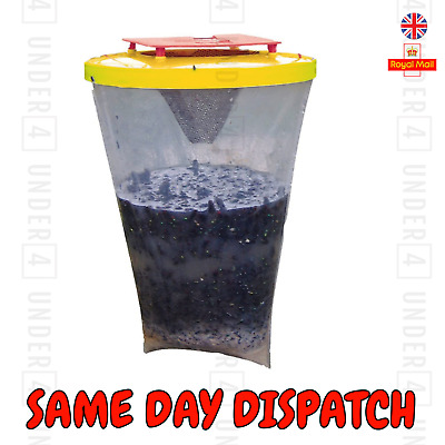 Red Top Fly Trap Fly Bag CATCHER Kills 20,000 Flies Insects Pest FLIES Killer UK