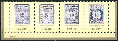 Hawaiian Missionary Stamps Complete MNH Strip of 4 Scott's 3694 from 2001