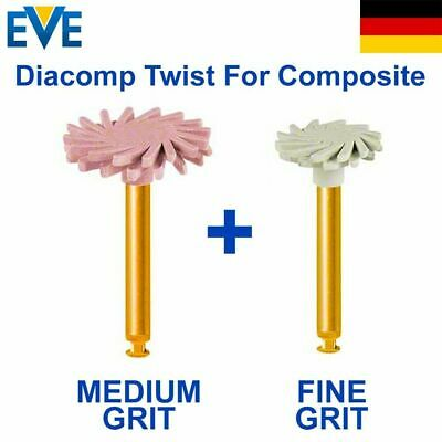 2 Dental EVE Diacomp Twist Plus Composite Diamond impregnated Discs
