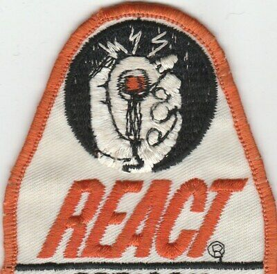 "VINTAGE 1970's ""React"" CB'er 10-4 Buddy Truckin' Convoy CB RADIO PATCH NOS"
