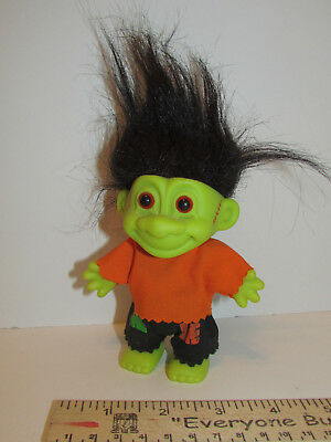 """FRANKENSTEIN TROLL Doll RUSS Brand Label 7""""Tall Complete Outfit #18503 Clean"""
