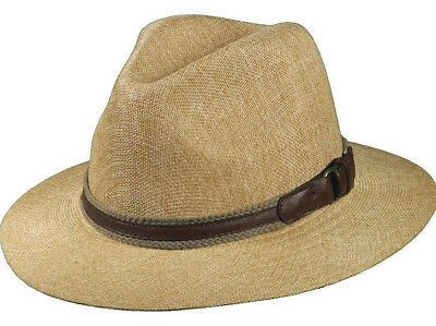 1466f51d605437 Stetson Sale * Mens Fedora Hat * New Safari Panama Style Sun Shady Summer  Golf