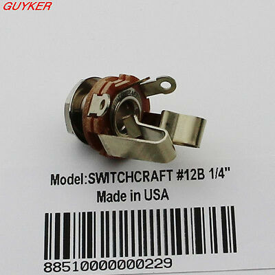 """SWITCHCRAFT #12B 1/4"""" Stereo Output Jack Guitar/Bass"""