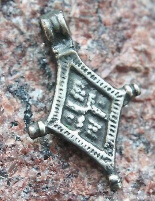 Ancient Viking Ornament Solid Silver Pendant Cross (AVG01)