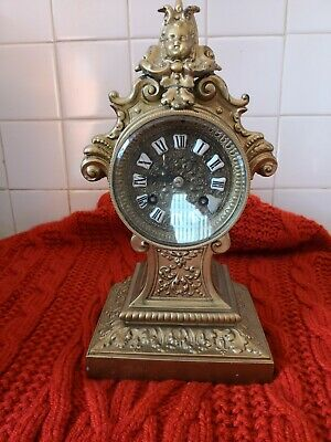 Ornate French Mantel Clock Spares Or Repairs