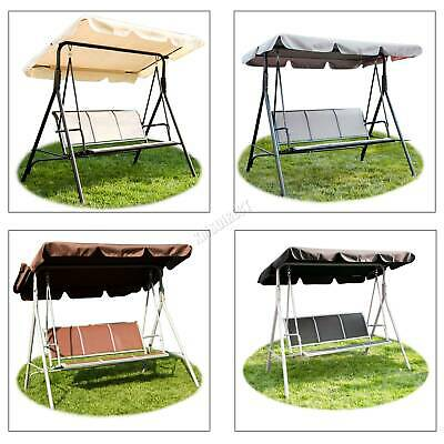 WestWood Garden Metal Swing Hammock 3 Seater Chair Bench Outdoor Shelter SC08