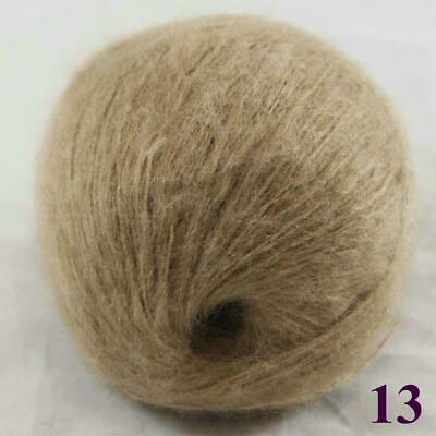 Sale New 1ballX50gr Fluffy Soft Mohair Lace Crochet Shawl Hand Knitting Yarn 13