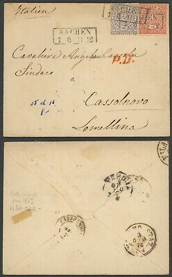 Germany North German Conf. 1870 - Cover Aachen to Cassolnovo Italy