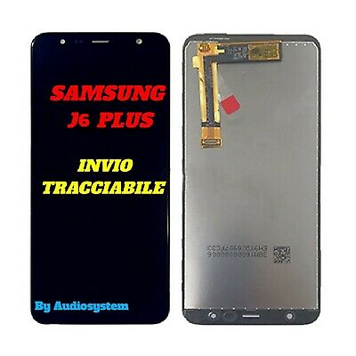 DISPLAY LCD+TOUCH SCREEN per SAMSUNG GALAXY J6+ PLUS SM-J610 NERO VETRO 2018