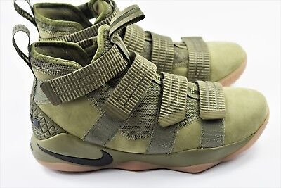 9a8a6c1887f Nike Lebron Soldier XI 11 SFG Mens Size 11 Basketball Shoes Olive 897646 200