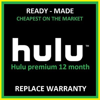 Hulu Premium Account 12 Months Add-On [ NOT Shared ] Fast Delivery | Warranty ✅