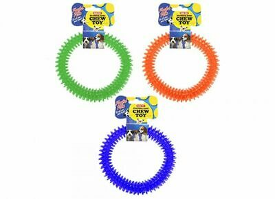 Dog Toy Teether Dental Ring Soft Rubber Teething Pet Chew Ring For Healthy Gums