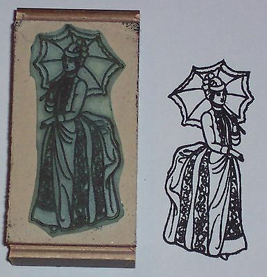 Victorian Lady Rubber Stamp by Amazing Arts beautiful!