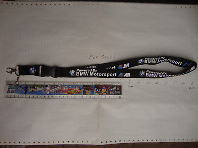 Lanyard BMW (Powered by BMW Motorsport) neck strap ID sec card USB stick keys