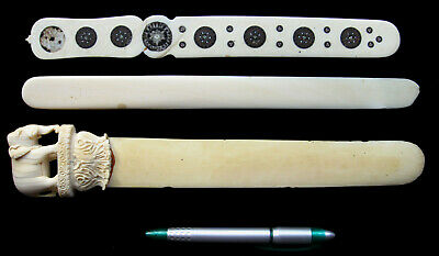3x Antique Victorian 19th Century Anglo-Indian Paper Knife Page Turner