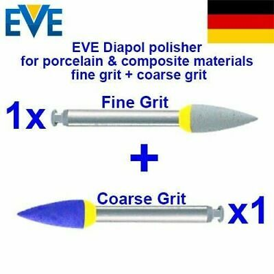2x Dental Burs EVE Diapol Diamond Polishing Ceramic Porcelain Composite Grit