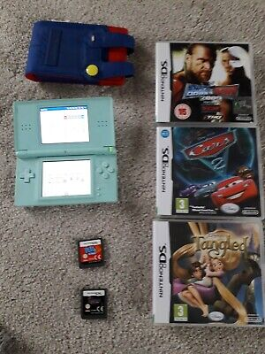 nintendo ds lite console, carry case  and 5 games good condition