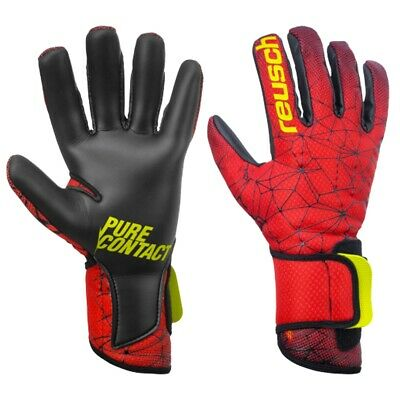 Reusch Pure Contact II R3 Soccer Goalkeeper Gloves(Black/Fire Red) 3970700 775*