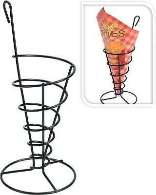 Set of 4 Metal Chip Baskets Fries Holders with Paper Liners Chip Cone Snack