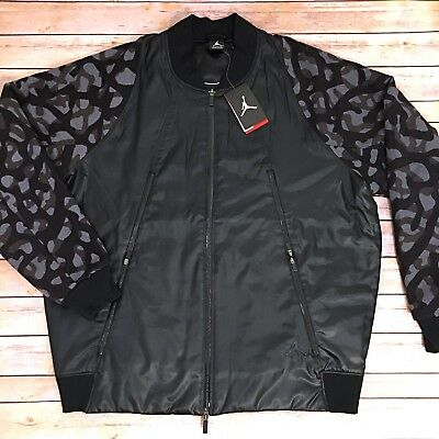 febcbf4bc5d80f NWT  220 Nike Air Jordan Jumpman Flight Member Jacket Gray Black Camo 2XL  XXL