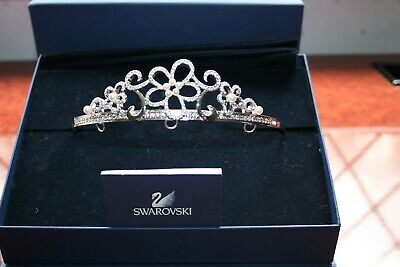 A Swarovski Crystal Tiara Superb Condition With Original Box And Pouch Genuine