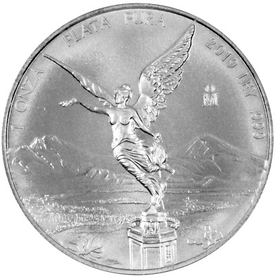 2019 Silver Mexican Libertad Onza 1 oz Brilliant Uncirculated