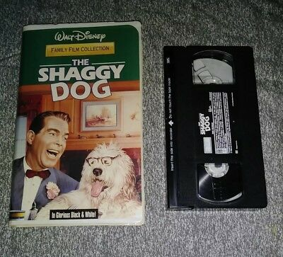 Walt Disney's The Shaggy Dog Vhs Black And White Version(Tested)