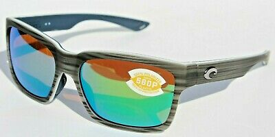 8b1d5416db COSTA DEL MAR Playa POLARIZED Sunglasses Matte Silver Teak Green Mirror 580P  NEW