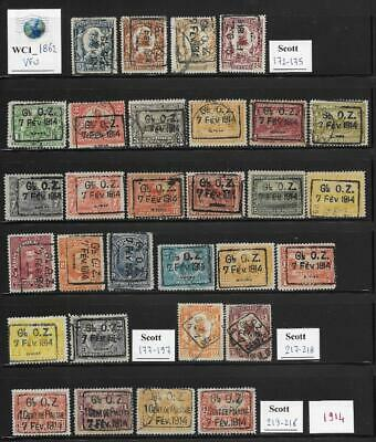WC1_1862 HAITI. Nice lot of 1914 stamps w. cplt. sets. Used