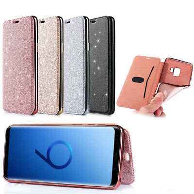 Luxury Bling Phone Case Cover Wallet Holder For Samsung Galaxy S10 S9 S8 Plus